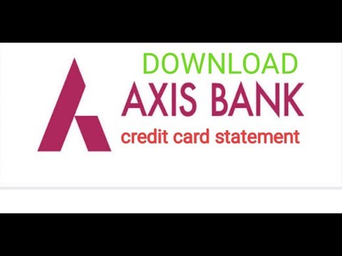 Axis Credit Card Statement Kaise Download Kre???