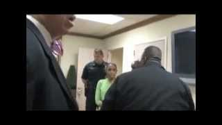 Dr. Mike Freeman demand that Pastor Joel be escorted by 6 police off the his own church property.mp4