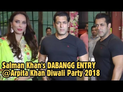 Salman Khan's DABANGG ENTRY With GF Lulia Vantur at Sister Arpita Khan's Diwali Party 2018