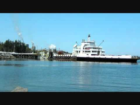 Time Lapse Crofton,BC Ferries ships. Vancouver Island British Columbia Canada
