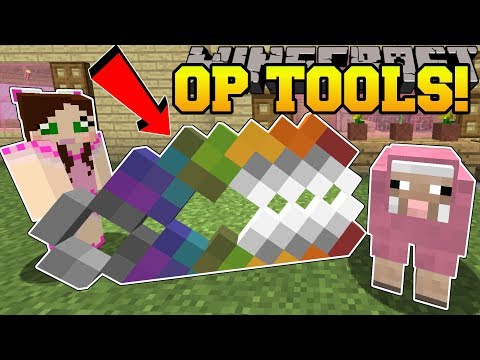 Minecraft: MEGA TOOLS!!! (GIANT OVERPOWERED TOOLS