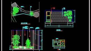 【autocad Block】gardening Landscape Design.