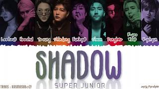 Gambar Super Junior - 'shadow'  赤霞  Lyrics  Color Coded_han_rom_eng