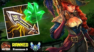 THE BEST WAY TO PLAY CRIT MISS FORTUNE - League of Legends (Preseason 9)