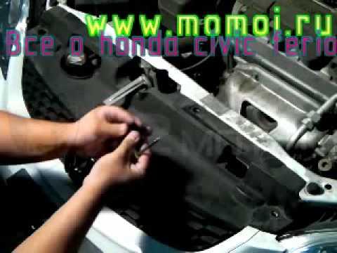 Снимаем решетку радиатора honda civic ferio 2001 2005.flv