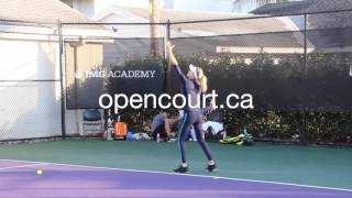 Eugenie Bouchard - training session (Part 2)