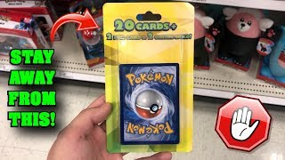 *DON'T BUY THIS!* Opening the WEIRDEST Pokemon Card Mystery Packs from TARGET!