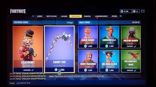 Fortnite Live PS4 Itemshop 25 décembre compte à rebours Stream CodeName Elf Returns!#Fearchronic! indice