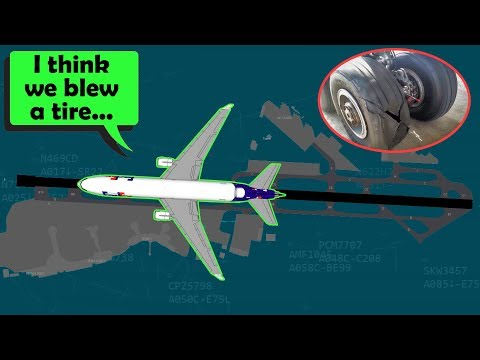 FedEx MD-11 blows a tire when landing at San Diego | NUMEROUS MISSES