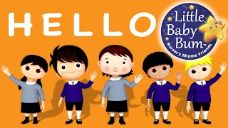 Hello Song | Nursery Rhymes | Original Song by LittleBabyBum