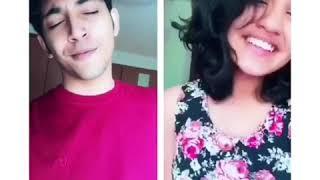 Malayalam film Queen Vennilave song- Dubsmash by heroine Saniya & Rahul