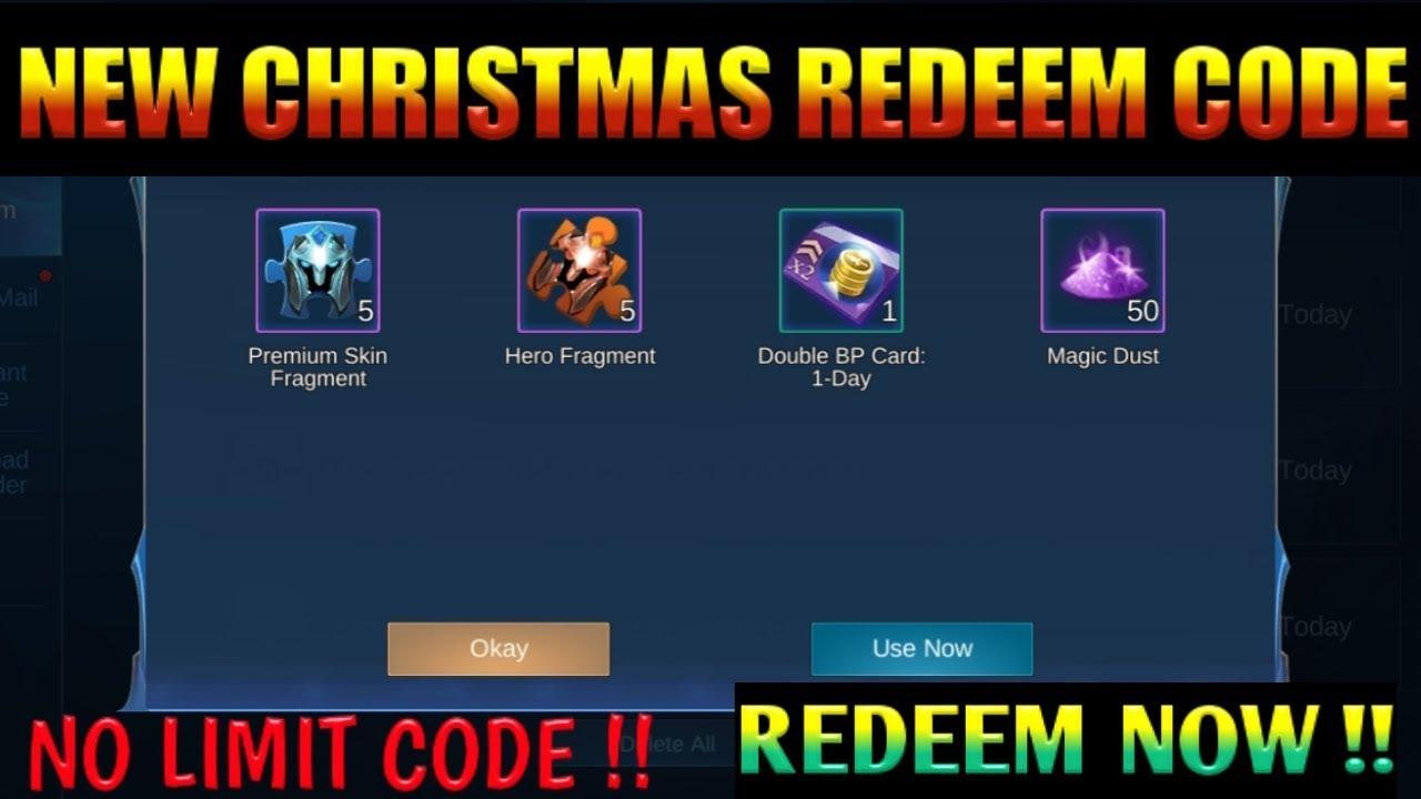 Chrismats new redeem code / no limit code redeem now ...