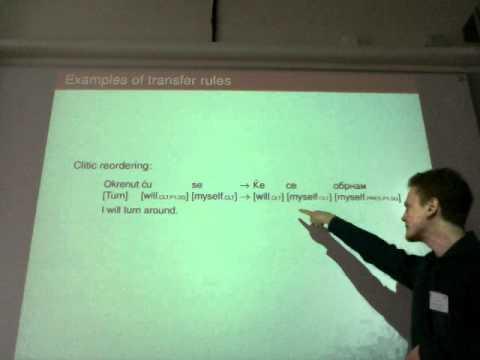 Hrvoje Peradin, A rule-based machine translation system from Serbo-Croatian to Macedonian.