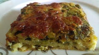 Ispanaklı Patatesli Pratik  Börek Tarifi ( sadece karıştırarak yoğurmadan)