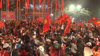 Hàng ngàn cổ động viên tại Huế mừng chiến thắng của Đội tuyển U23 Việt Nam