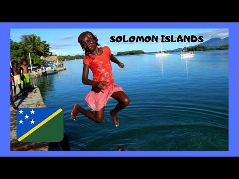 SOLOMON ISLANDS, CHILDREN DIVING in the SEA off a pier, GHIZO ISLAND (PACIFIC OCEAN)