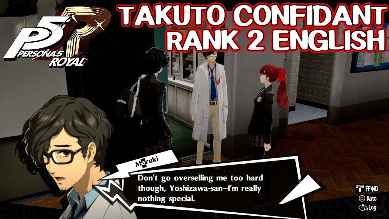 Takuto Confidant Rank 2 English Persona 5 Royal Youtube