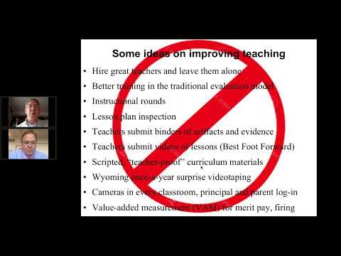 Doing Teacher Supervision and Evaluation Right: A Webinar with Kim Marshall