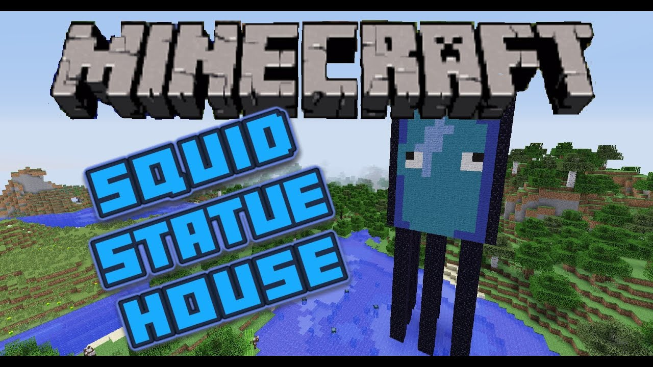 Minecraft Squid House Statue Scale Model Lets Build Youtube