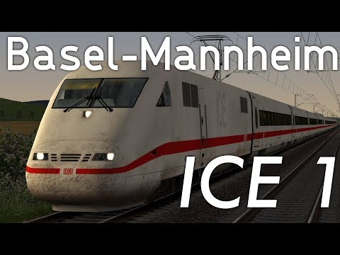 ICE 1 von Basel nach Mannheim | LET´S PLAY Train Simulator 2018 | Trainsa