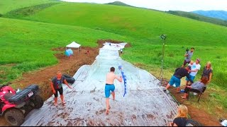 WORLD'S LARGEST MOUNTAIN SLIP N SLIDE!