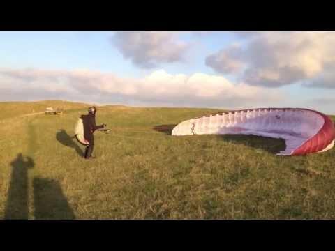 Paragliding Westbury 5th Nov 2014 no edit