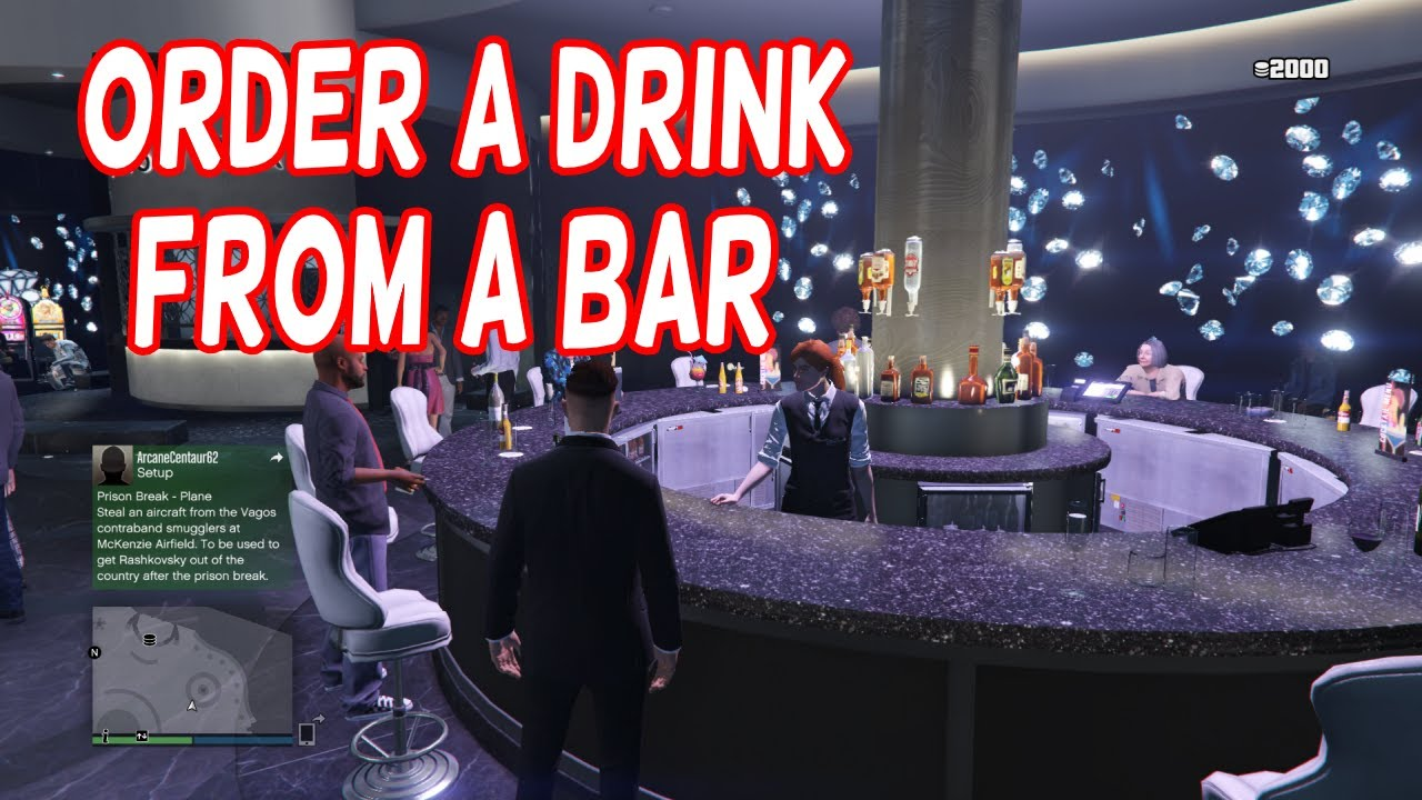 GTA 5 - Order a drink from a bar (Daily Objective) - YouTube