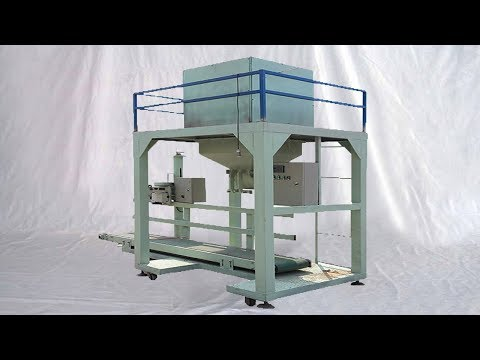 PP woven bags animal feed filling sewing packaging fully automatic food bagging line 大袋編織袋灌裝封口線