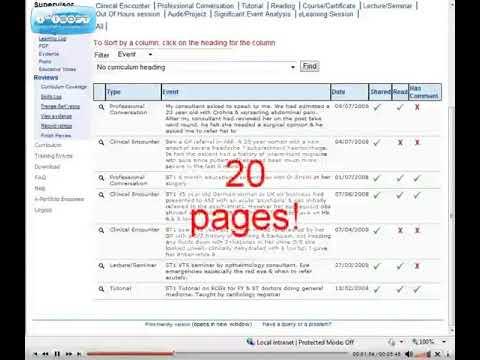 Educational Supervision 06 - log entries etc
