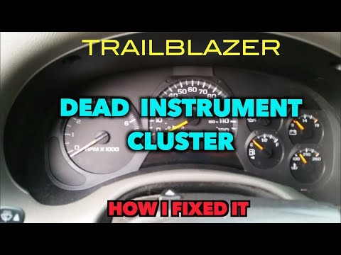 Trailblazer Instrument Cluster Dead! How I Got Mine Working Again.