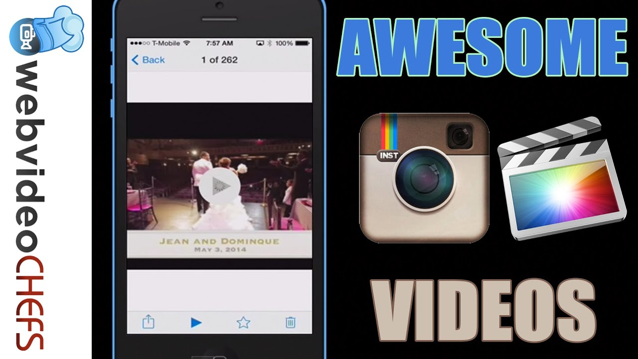 How to create an Instagram video using Final Cut Pro X - YouTube