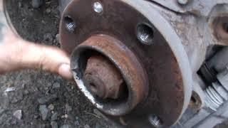 Как снять передний тормозной диск с ВАЗ