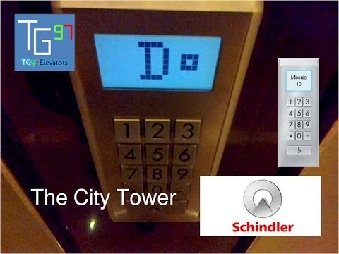 Schindler Miconic 10 Traction Elevators at The City Tower, Jakarta (2 - 19)