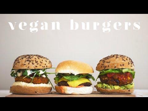 HOW TO MAKE VEGAN BURGERS | 3 Easy Recipes