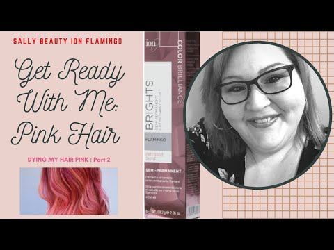 Quarantine Hair at Home : PINK! Using Sally's Ion  Flamingo 🦩 Pink! GRWM Part 2 : RESULTS!