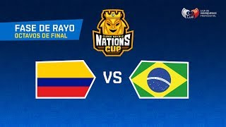 OCTAVOS DE FINAL | COLOMBIA VS BRASIL | Fase Rayo | CRNATIONSCUP | (PLAYOFFS)