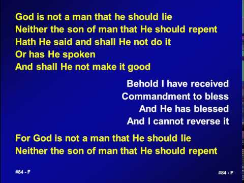 084 - God is not a man that He should lie - A&V