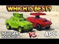 GTA 5 ONLINE : APC VS INSURGENT PICK UP CUSTOM (WHICH IS BEST?)