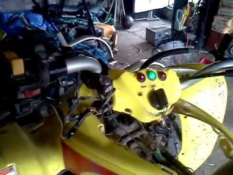 how to wire teather kill switch on any bike no wire kit needed or rh youtube com Suzuki QuadSport 250 2006 Suzuki 250 Quad