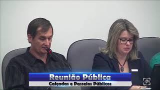 Reunião pública discutiu situação das calçadas e passeios públicos na cidade