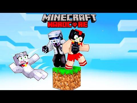 Sobrevivimos 100 días de Minecraft HARDCORE... en 1 BLOQUE 😱 Invictor, Acenix y ElMayo97 #1