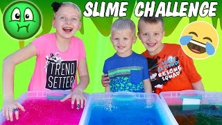 Gelli Baff Toy Slime Challenge & Huge Slime Throwing Contest - Hidden Candy! Family Fun Pack