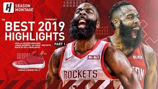 James Harden BEST Highlights & Moments from 2018-19 NBA Season! BEAST Mode! (Part 1)