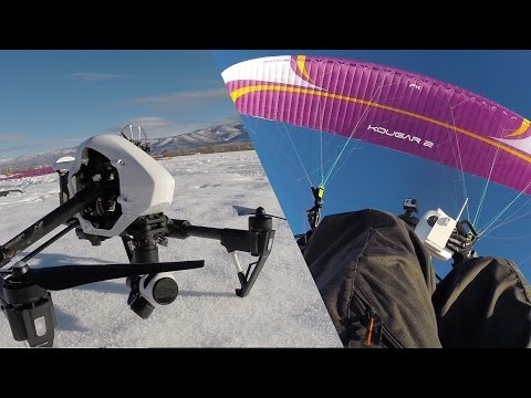 ULTIMATE SELFIE - DJI Inspire AND Paramotor
