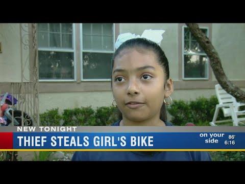 Thief steals little girl's bike in Haines City