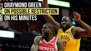 Draymond Green on possible minutes restriction thumbnail