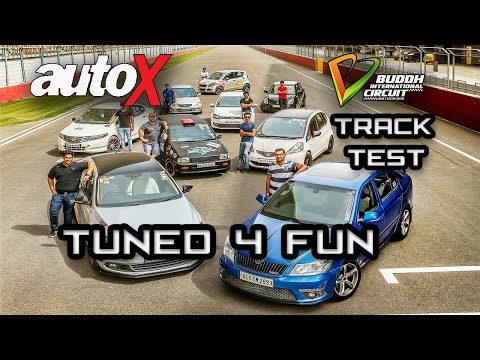 9  Modified cars in India | Tuned 4 Fun | BIC Track Test | autoX