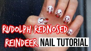 Easy Christmas Nail Art: Rudolph Nails!