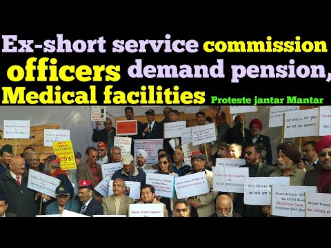 Ex- Short Service Commission officers demand  for medical facilities & pension