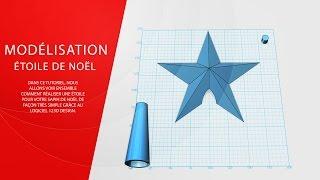 Etoile Noel -  Part1 - Modélisation 123D Design